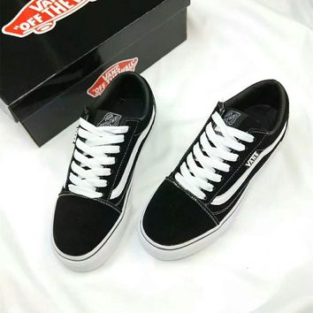 """""""VANS"""" Unisex Casual Classic Stripe Low Help Plate Shoes Couple Skateboard Shoes Sneakers"""