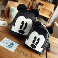 Mickey minnie backpacks  leather Women shoulder