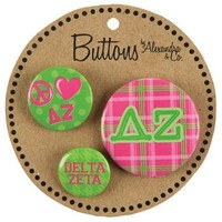 Delta Zeta - 3 Button Set