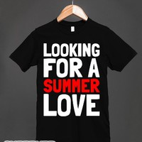 Looking For a Summer Love-Unisex Black T-Shirt