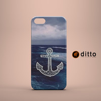 BLUE ANCHOR OCEAN Design Custom Case by ditto! for iPhone 6 6 Plus iPhone 5 5s 5c iPhone 4 4s Samsung Galaxy s3 s4 & s5 and Note 2 3 4