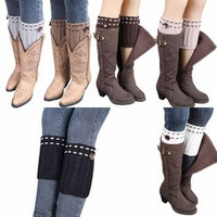 1 Pair High Grade Knitted Leg Warmers Socks Boot Cover [9819225999]
