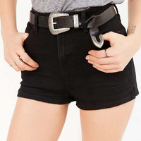 Metal-Tipped Western Leather Belt - Urban Outfitters