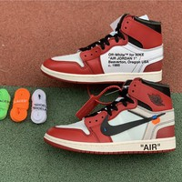 Air Jordan 1 x Off White AJ1 White/Red AA3834-101