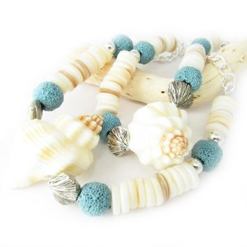 Seashell Curtain Tiebacks - Beach Window Decor