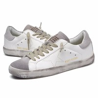 VIXLEO casual shoes Italy Golden Genuine Leather Casual women Flats Trainers Goose star shoes Breathe Shoes Footwear Zapatillas