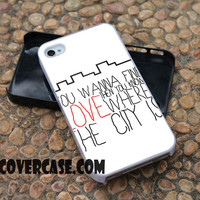 The 1975 Chocolatte Lyric case for iPhone 4/4S/5/5S/5C/6/6+ case,samsung S3/S4/S5 case,samsung note 3/4 Case