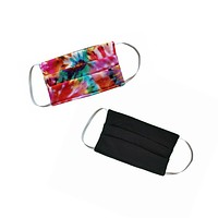 Cute Tie Dye and Black Reusable & Reversible Face Mask