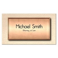 Elegant Copper And Leather Professional Business Cards