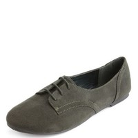 LACE-UP SUEDED OXFORD