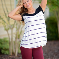 Right Stripe and Pocket Tee