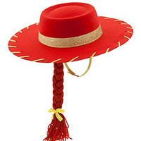 Toy Story 3 Jessie the Cowgirl Red Sparkle Cowboy Hat with Braid