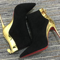 Christian Louboutin Cl Women Suede Ankle Boots Reference #17 - Best Online Sale