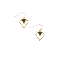 Mistakes into Gold Drop Earrings