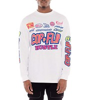 Cash Heavy Long Sleeve Racing T Shirt White