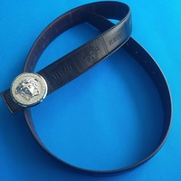 Versace Medusa Black Leather BeltBlack Belt