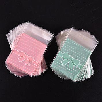 100x Self Adhesive Cookie Candy Package Gift Bags Cellophane Party Birthday CB12