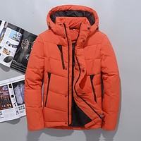 Winter Hooded Duck Down Jackets Mens Warm Thick Quality Down Coats Male Winter Overcoat Down Parkas Man Puffer Jackets JK-643