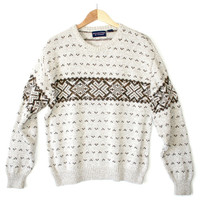 Tan Nordic Snowflake Men's Ski Ugly Sweater