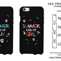 Summer Kind of Guy and Girl Matching Couple Phonecases - 365 Printing Inc