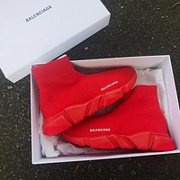 Balenciaga Trending Woman Men Stylish Breathable Sneakers Running Shoes All Red