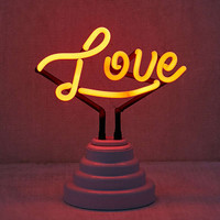 Love Neon Sign Table Lamp   Urban Outfitters