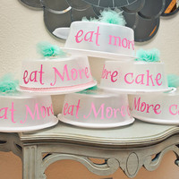 Eat More Cake - Cake Carrier/Cake Box /Party Favor/Bakery Box - as featured on the Amy Atlas blog