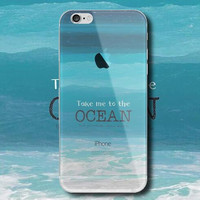 Beautiful sea water mobile phone case for iPhone 7 7 plus iphone 5 5s SE 6 6s 6 plus 6s plus + Nice gift box 072301