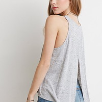 Heathered Split-Back Tank