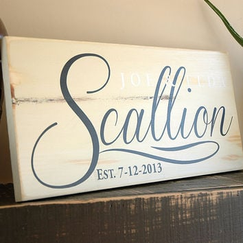 Family Wood Sign, Last Name Sign, Est. Sign, Rustic Wood Sign Finish