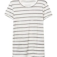Distressed Stripe Tee – Ily Couture