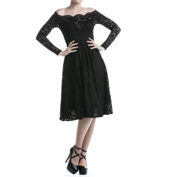 Gothic Dress with Long Sleeves
