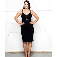 Lala Belle The Label | Black Elastic Trim Dress