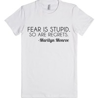 fear and regret-Female White T-Shirt