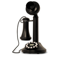 Beautiful black vintage candlestick telephone remastered rotary phone styled classic antique black matte finished dial telephone home phone