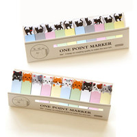 Office Writing Cute Joy Cat Style Sticker Post It Bookmark Tab Memo Marker Point Flags Sticky Notes stationery Decoration s4