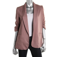 Bar III Womens Open Front Ruched Casual Blazer