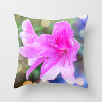 pretty purple garden flowers. nature is beautiful. floral photo art. Throw Pillow by NatureMatters