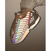 """Adidas"" Chameleon Reflective Sneakers Sport Shoes Light Up Your Night Sky"