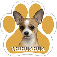 Tan Chihuahua Paw Shaped Car Magnet