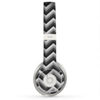 The Sharp Layered Black & Gray Chevron Pattern Skin for the Beats by Dre Solo 2 Headphones