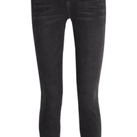 Current/Elliott - The Stiletto distressed mid-rise skinny jeans