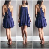 A Bohemian Sundress in Navy