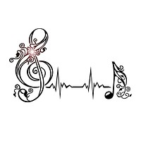 Vinyl Wall Decal Musical Note Heartbeat Pulse Music Art Stickers Unique Gift (530ig)