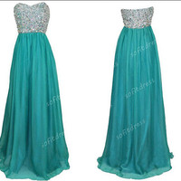 sweet heart prom dresses, affordable prom dress, green prom dresses, green bridesmaid dress, evening dresses, BE0284