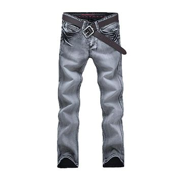 Male Casual Style Elegant Extensible Baggy Straight Jeans