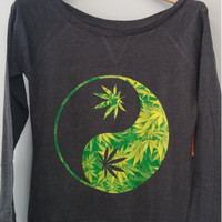 Long Sleeve Shirt - Yin Yang Weed