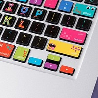 LoveDecalHome macbook keyboard decal colors Monsters Macbook Keyboard stickers skin keys cover Macbook Pro Keyboard decal Skin Macbook Air Sticker keyboard Macbook decal
