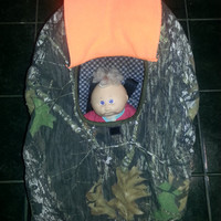 Mossy Oak and Hunter Orange Camo RealTree Baby Carrier Cozy Cover Up 4 Infant Car Seat
