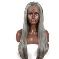 Dark Gray Beauty Lace Front Wig